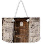 Old Stone Church Door Weekender Tote Bag