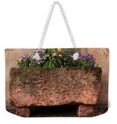 Old Stone Trough And Flowers In Alsace France Weekender Tote Bag