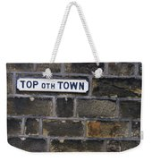 Old Street Sign Weekender Tote Bag