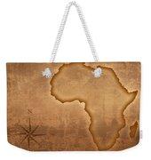 Old Style Africa Map Weekender Tote Bag