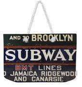 Old Subway Signs Weekender Tote Bag