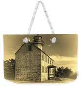 Old Time East Point Light Weekender Tote Bag