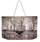 Old Time Fountain Weekender Tote Bag