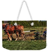 Old Time Horse Plowing Weekender Tote Bag