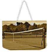 Old Time Tennis Weekender Tote Bag
