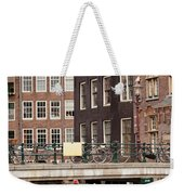 Old Town In Amsterdam Weekender Tote Bag