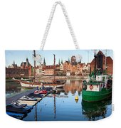 Old Town Of Gdansk Skyline And Marina Weekender Tote Bag