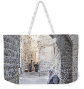Old Town Street Of Jerusalem Israel Weekender Tote Bag