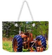 Old Tractor Digital Paint Weekender Tote Bag