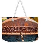 Old Tractor Grille Weekender Tote Bag