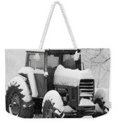Old Tractor In The Snow Weekender Tote Bag