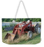 Old Tractor Weekender Tote Bag by Jennifer Ancker