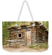 Old Traditional Log Cabin Rotting In Yukon Taiga Weekender Tote Bag
