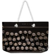 Old Typewriter Weekender Tote Bag