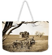 Old Wagon And Homestead II Weekender Tote Bag by Athena Mckinzie