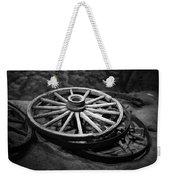 Old Wagon Wheels Weekender Tote Bag