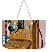 Old Wall Telephone Weekender Tote Bag