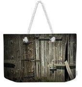 Old Weathered Barn Door Weekender Tote Bag