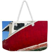 Old Weathered Boat Weekender Tote Bag
