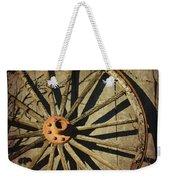 Old West Wagon Wheel Weekender Tote Bag