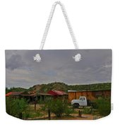 Old Western Backyard Weekender Tote Bag
