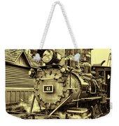 Old Western Railroad Weekender Tote Bag