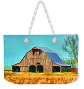 Old Wood Barn  Digital Paint Weekender Tote Bag
