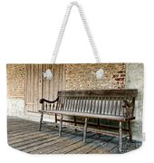 Old Wood Bench Weekender Tote Bag