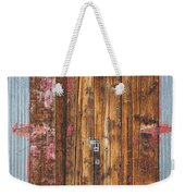 Old Wood Door With Six Red Hinges Weekender Tote Bag by James BO  Insogna