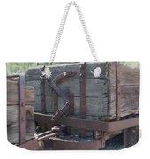 Old Wood  Mining Ore Car Weekender Tote Bag