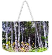 Old Wood Stand Painterly Style Weekender Tote Bag