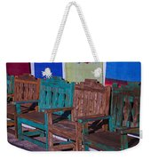 Old Wooden Benches Weekender Tote Bag