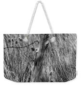 Old Wooden Fence Post In A Field Weekender Tote Bag
