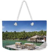 Old Wooden Pier Of Koh Rong Island In Cambodia Weekender Tote Bag