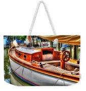 Old Wooden Sailboat Weekender Tote Bag