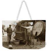 Old  Wooden Wine Press Circa 1910 Weekender Tote Bag