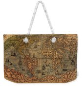 Old World Map Weekender Tote Bag by Dan Sproul