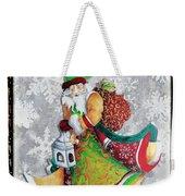 Old World Santa Clause Christmas Art Original Painting By Megan Duncanson Weekender Tote Bag