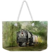 Old World Steam Engine Weekender Tote Bag