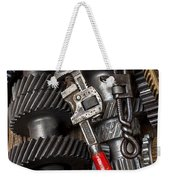 Old Wrenches On Gears Weekender Tote Bag