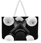 Old Tampa Light Black And White Weekender Tote Bag