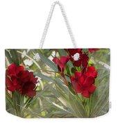 Oleander Blooms - A Touch Of Red Weekender Tote Bag