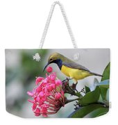 Olive-backed Sunbird Male With Flower Weekender Tote Bag