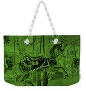 Olive Green Horse Weekender Tote Bag