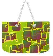 Olive Green Squares Weekender Tote Bag