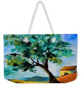 Olive Tree On The Hill Weekender Tote Bag by Elise Palmigiani