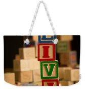 Olivia - Alphabet Blocks Weekender Tote Bag