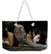 Olivia Wild And The Tiger Weekender Tote Bag