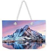 Olstind Lofoten Islands Norway Weekender Tote Bag