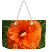 Olympia Orange Poppy Weekender Tote Bag
